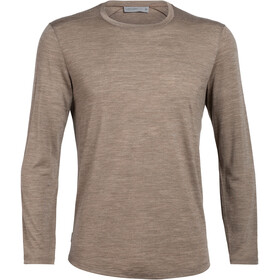 Icebreaker Sphere Longsleeve Crew Shirt Heren, driftwood heather